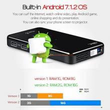 MINI Proyector chino AUN X2 Android 7.1portatil para ver cine en casa