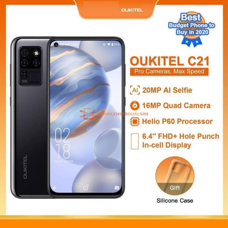 Movil chino OUKITEL C21 Helio P60 Quad Camara 20MP Selfie 64 FHD bateria 4000mAh 64GB