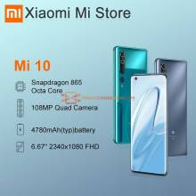 Movil chino Xiaomi Mi 10 Version Global 8GB 128GB 5G LPDDR5 USF 30 Snapdragon 865 Octa Core pantalla 6.6