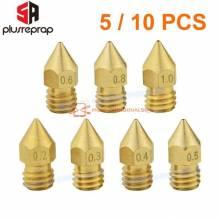 5 unidades Boquilla de laton cabezal de impresion 3D MK8 de boquilla para extrusor diferentes tamaños