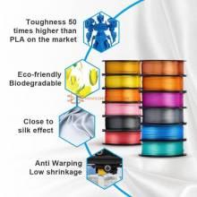 Filamento PLA impresion 3D de seda SUNLU 175mm 1kg textura de seda