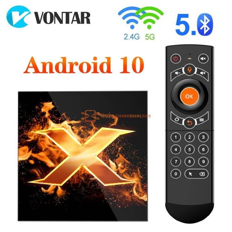 Tv Box VONTAR-decodificador X1 Android 10 4GB de RAM 64GB 4K 2020 p1080