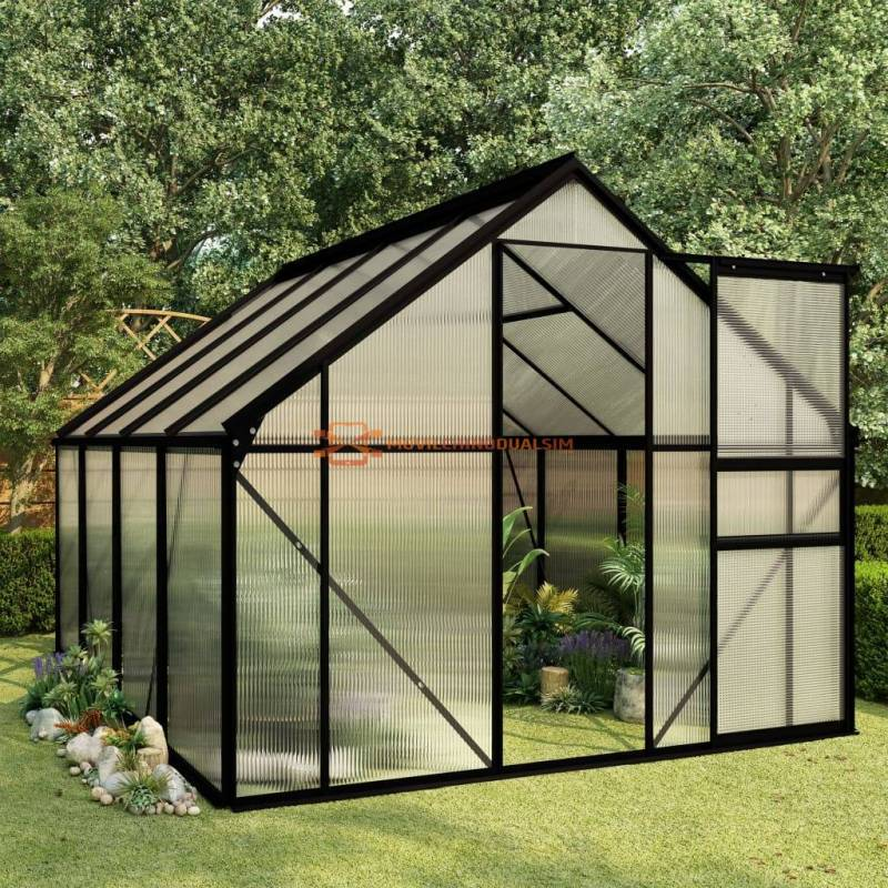 Fantastico Invernadero Invernadero de aluminio gris antracita 4,75 m²