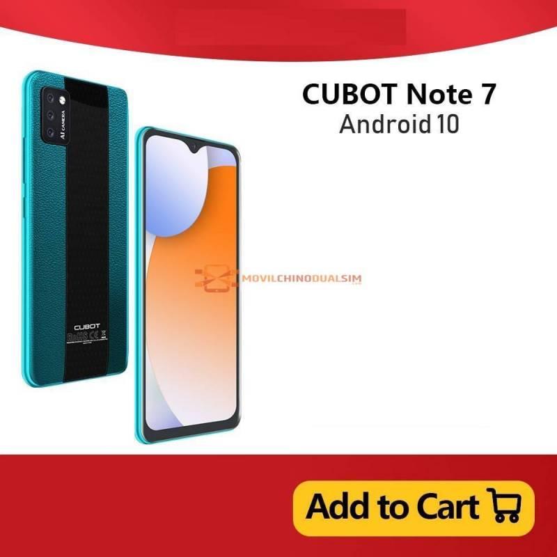 Movil chino Cubot Note 7 Pantalla 5.5 identificacion facial 4G LTE