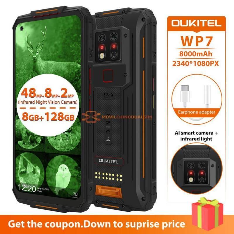 Movil chino OUKITEL WP7 con Triple camara DE 48MP con vision nocturna infrarroja bateria 8000mAh