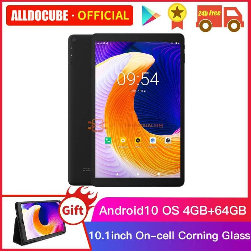Tablet china ALLDOCUBE con memoria de 64 GB pantalla 10.1 pulgadas Android 10 4GB RAM