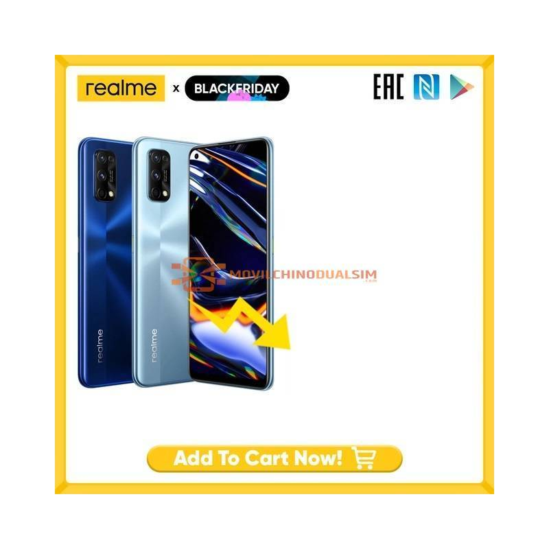 Movil chino Realme 7 Pro, versión Global, 65W, carga rápida, desbloqueo de huella dactilar, Snapdragon 720G