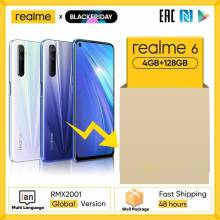 Movil chino Realme 6 NFC version Global 4GB 128GB Helio G90T 30W carga de Flash 64MP