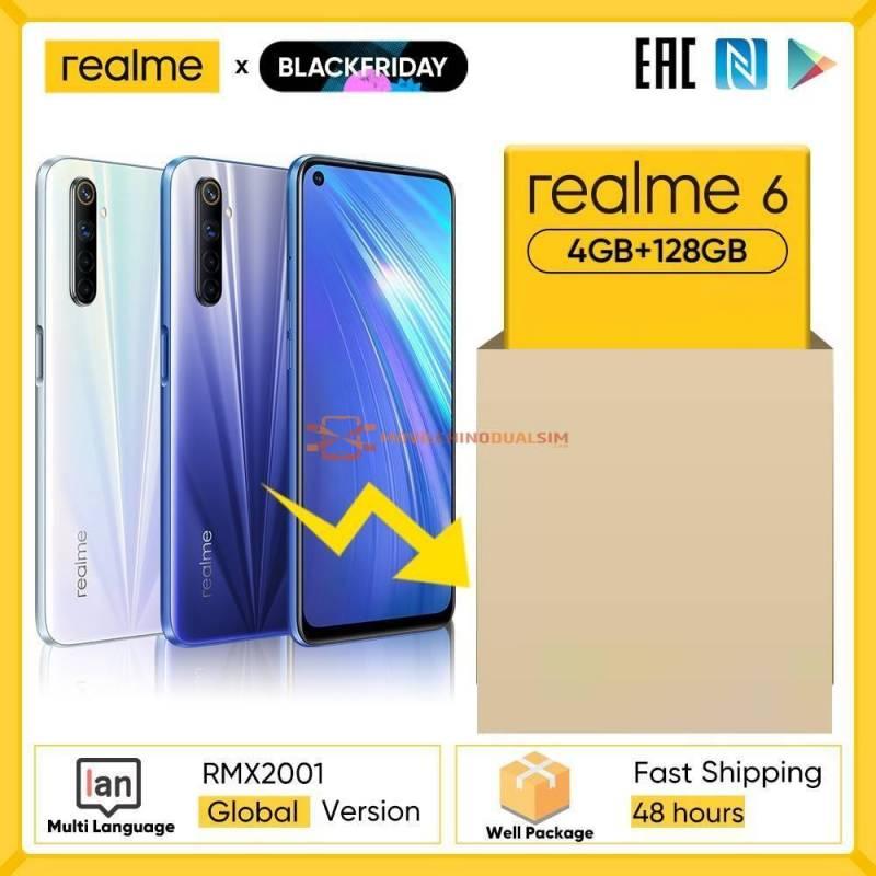 Movil chino Realme 6 NFC version Global 4GB 128GB Helio G90T 30W carga de Flash 64MP