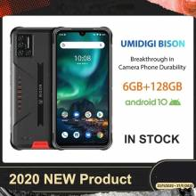 "Movil chino UMIDIGI BISON IP68/IP69K resistente al agua, Quad Cámara de 48MP pantalla 6,3"" 6GB RAM128GB rom Android 10 NFC"
