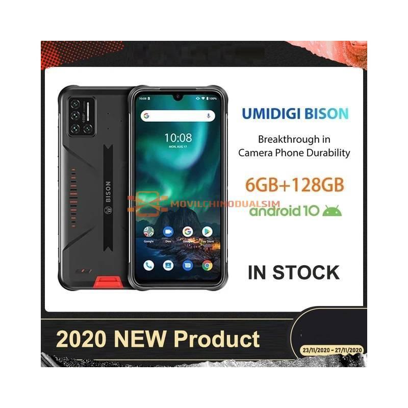 "Movil chino UMIDIGI BISON IP68/IP69K resistente al agua, Quad Cámara de 48MP pantalla 6,3"" 6GB RAM128GB rom Android 10 NFC"