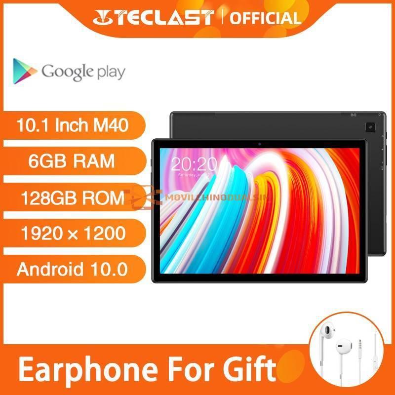 "Tablet china Teclast M40 pantalla 10.1"" Android 10.0 6GB RAM 128GB camara de 8MP Bluetooth"