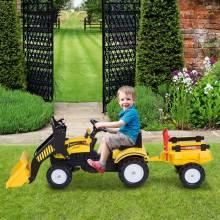 Fantastico Tractor Pedales Excavadora Infantil Juquete de Montar para Niños