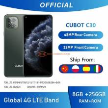 Movil chino Cubot C30 cudruple camara 48MP con 8GB  256GB 32MP Selfie 4G LTE