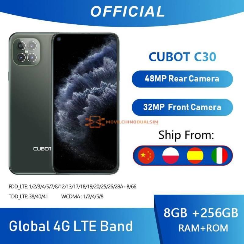 Movil chino Cubot C30 cudruple camara 48MP con 8GB  256GB 32MP Selfie 4G LTE