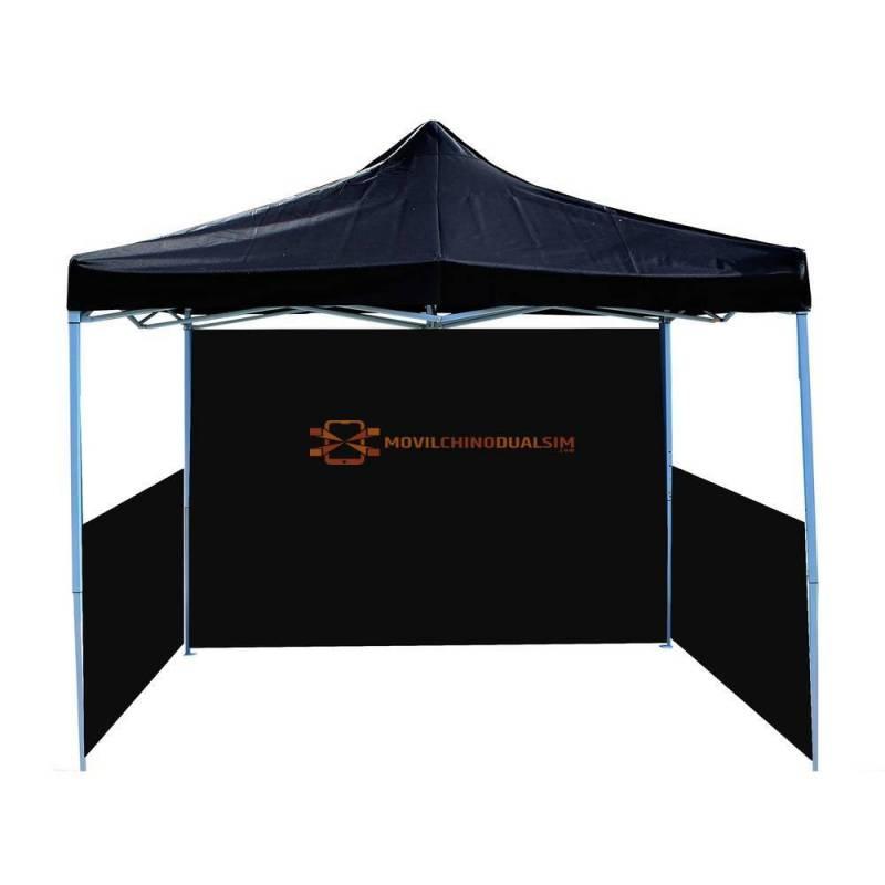 Gran Carpa plegable 300x450cm tienda negra con telas laterales