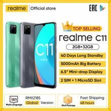 "Movil chino Realme C11 pantalla 6,5"" bateria 5000mAh hasta 40 días en modo de reposo 3 ranuras para tarjetas"