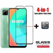 4 en 1 unidades de protector de pantalla vidrio templado de alta calidad para movil chino Realme C11