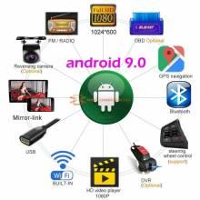Reproductor multimedia Android 9.0 auto radio 2 Din universal estereo para coche GPS