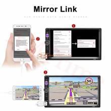 "Reproductor Multimedia Universal 2 din para coche autorradio estereo pantalla tactil de 7"""