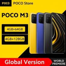 """Movil chino POCO M3 versión global Snapdragon 662 4GB RAM 64GB rom pantalla de 6,53"""" batería de 6000mAh cámara 48MP"""