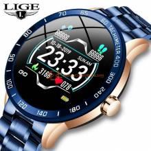 Reloj inteligente LIGE de acero muy deportivo multifuncion con control del ritmo cardiaco