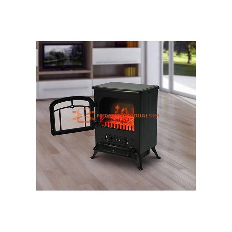 Preciosa Chimenea Eléctrica de Pie Estufa Calefactor 950/1850W