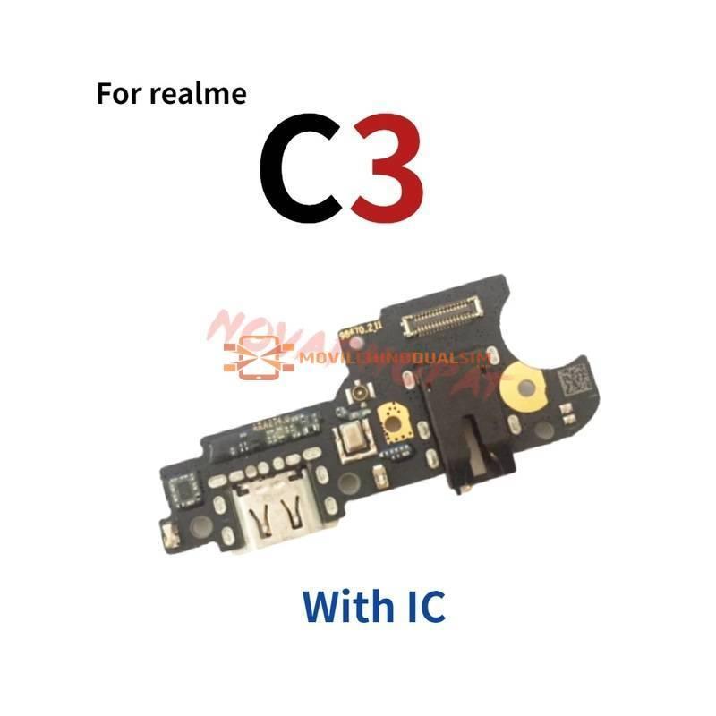 Repuesto placa USB cargador de enchufe para movil chino Realme C3