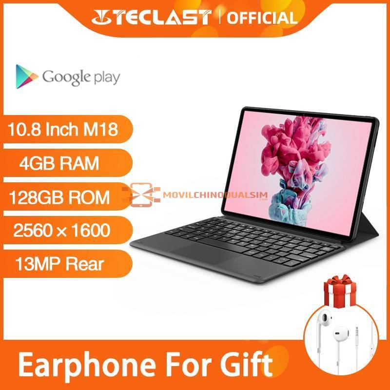 Tablet china Teclast M18 de pantalla 10.8 pulgadas MTK HelioX27 OctaCore 2560x1600 IPS 4GB de RAM 128GB