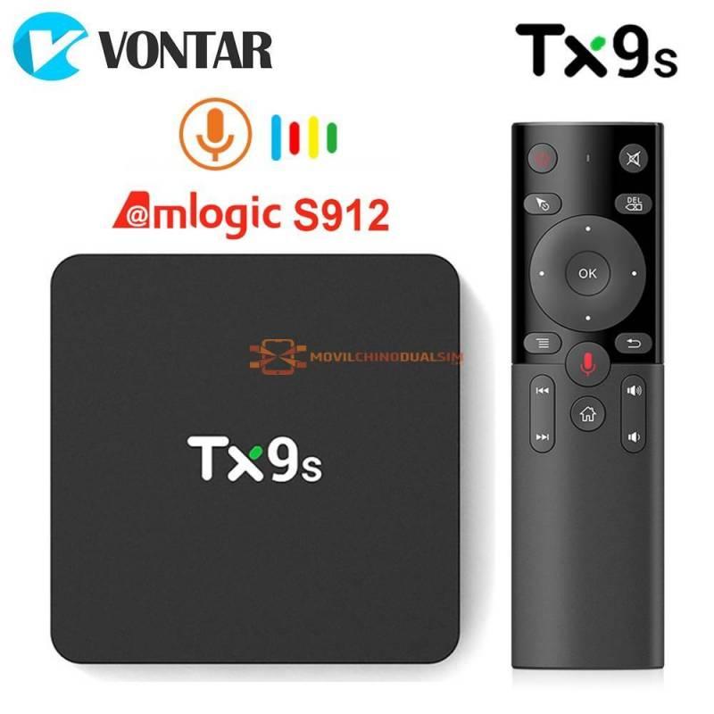 TV Box TX9s Android TV con Amlogic S912 2GB 8GB 4K 60 fps wifi 24 G