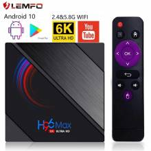 TV Box lemfo H96 MAX H616, Android 10, 6K 3D para  wi-fi 2020 GHz/5 GHz, 4 GB, 64 GB, Quad Core, Android, 2,4