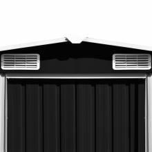 Preciosa Caseta de jardín de metal antracita 257x497x178 cm