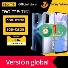 Movil chino Realme 7 5G Version global 6GB 128GB 120Hz pantalla de 48MP, bateria 5000mAh