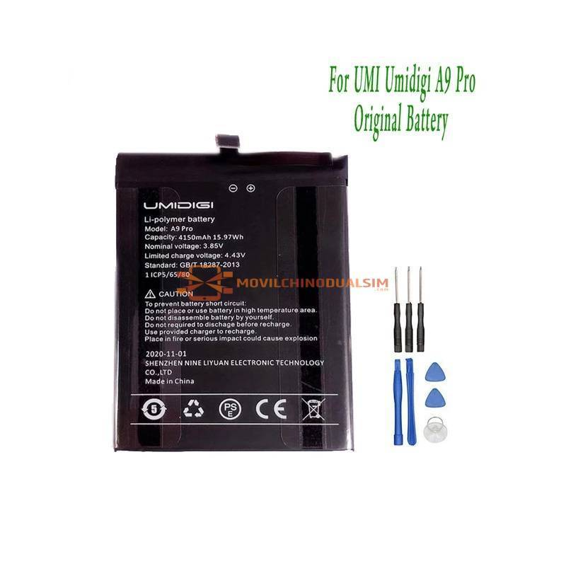Bateria original de 4150 mAh para movil chino Umidigi A9 Pro