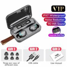 Auriculares chinos TWS con Bluetooth 5,0 con cargador de 2200mAh, estéreo 9D, deportivos, resistentes al agua, con micrófono