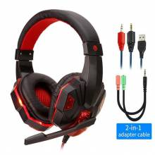Auriculares chinos pc gamer audifonos estéreo con bajo Led profesional para Gaming