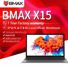 Ordenador portatil chino BMAX X15 con 15,6 pulgadas 1920*1080 Géminis N4120 Intel UHD gráficos 600 8GB LPDDR4 RAM 128GB SSD ROM