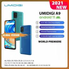 "Movil chino UMIDIGI A9, versión global, Android 11, camara de 13MP, Helio G25, ocho núcleos, 6,53"" bateria 5150mAh"
