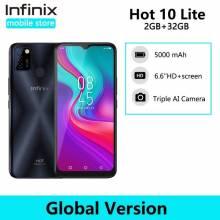 Movil chino Infinix Hot 10 Lite versión Global 2GB 32GB pantalla 6,6 ''HD 1600*720P bateria 5000mAh camara de 13MP