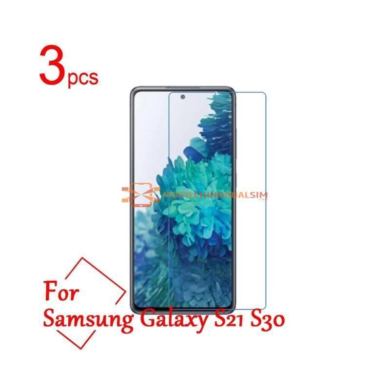3 Unidades de protector de pantalla vidrio templado de alta calidad para movil chino Galaxy S21 S30