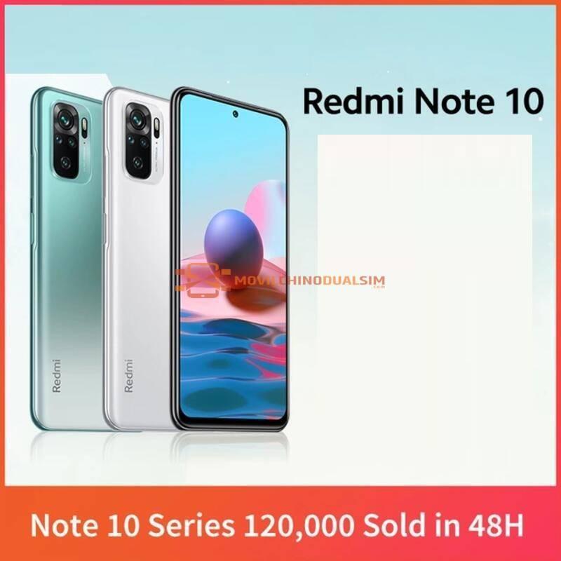 Movil chino Xiaomi Redmi Note 10 Snapdragon 678 AMOLED pantalla 48MP cuádruple Cámara 33W