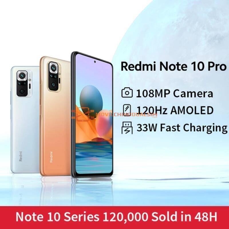 Movil chino Xiaomi Redmi Note 10 Pro 108MP cámara Snapdragon 732G 120Hz AMOLED