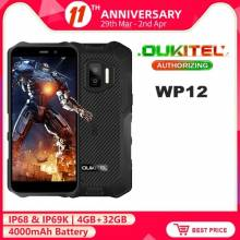 Movil chino OUKITEL WP12 resistente al agua IP68, Android 11, pantalla 5,5 pulgadas, 4GB + 32GB NFC, bateria 4000mAh