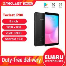 "Tablet China Teclast P80 pantall 8"" Android 10 2GB RAM 32GB ROM Allwinner A133 1280x800 IPS Quad Core Dual Wifi Bluetooth 5,0"