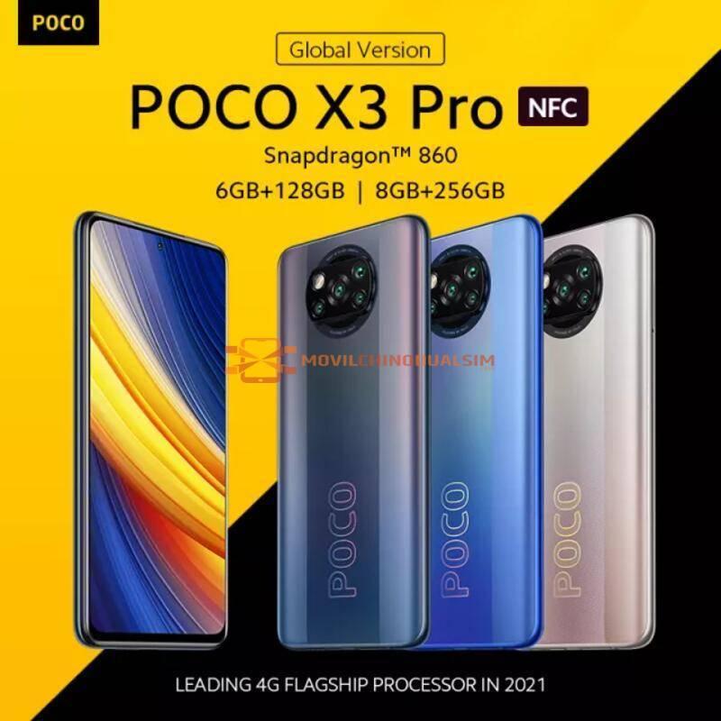 Movil chino POCO X3 Pro versión Global Snapdragon 860 120Hz DotDisplay bateria 5160mAh 33W NFC Quad