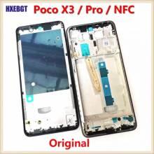 Carcasa frontal LCD Original placa de bisel de marco medio para moviles chinos Xiaomi Poco X3 / X3 Pro/X3