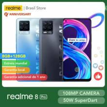 Movil chino Realme 8 Pro versión Global, 8GB, 128GB, cámara de 108MP, 50W, carga SuperDart AMOLED, compatible con B2/4