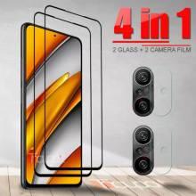 4 en 1 Unidades de protector de pantalla vidrio templado de alta calidad para movil chino Xiaomi Poco F3