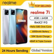 Movil chino Realme 7i pantalla HD de 6,5 pulgadas, 4GB RAM, 64GB rom, cámaras 48MP, Helio G85, Octa Core, 18W, bateria 6000mAh