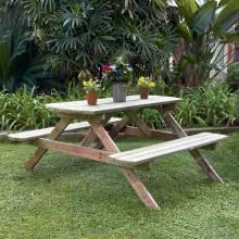 Mesa de comedor pino o picnic 72x172x159 CM